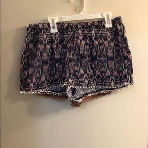 Blue comfy shorts